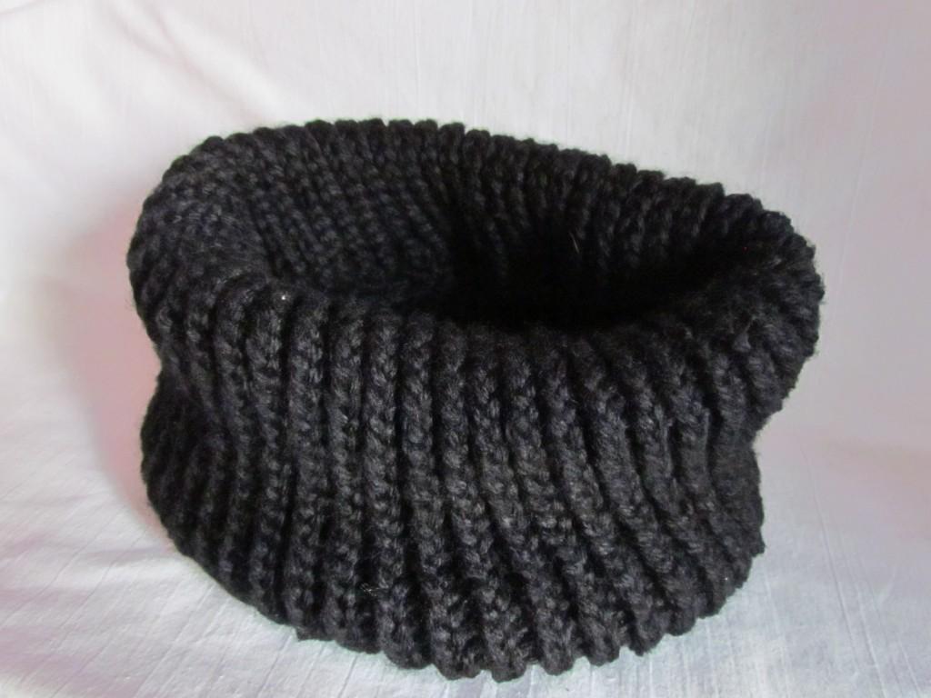 Вязание шарфа-снуда спицами (26)
