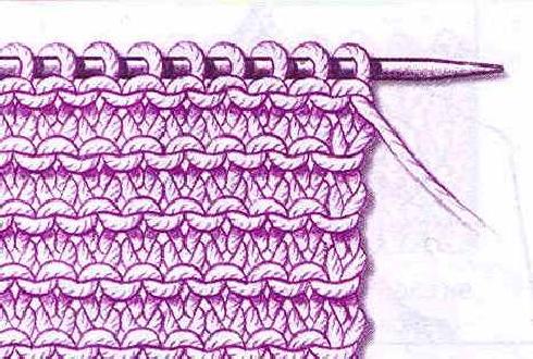 Вязание изнаночной гладью