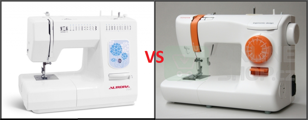 Сравнение швейных машин Aurora 760 и Toyota ECO15B