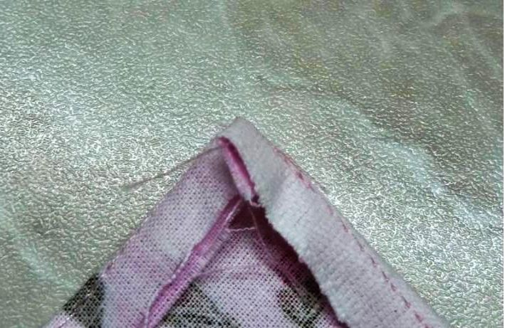 Сшивание края пододеяльника по схеме В