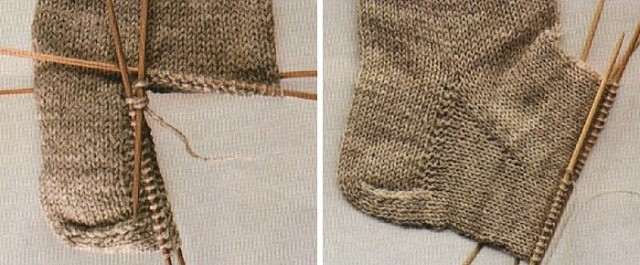 Вязание клина подъема стопы