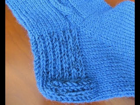 Пятка готового носка