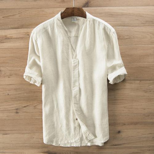 Рубашка из льняного полотна