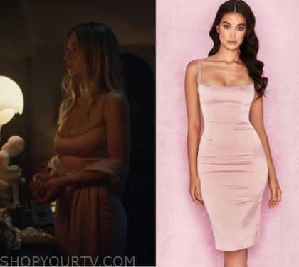 Вечернее платье House of CB 'Camilla' Pink Satin Dress