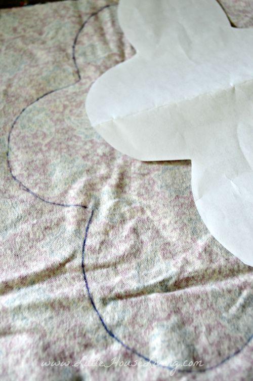 Перенос выкройки прокладки на материал