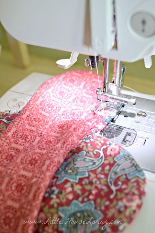 Сшивание прокладки с двух сторон