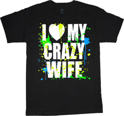 Футболка с надписью I Love My Crazy Wife