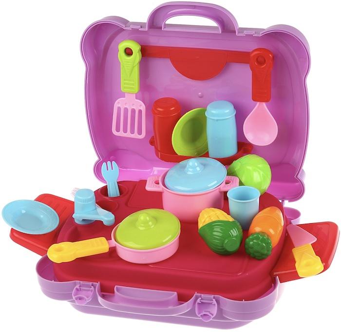 Игрушечный набор посуды Кухня в чемодане
