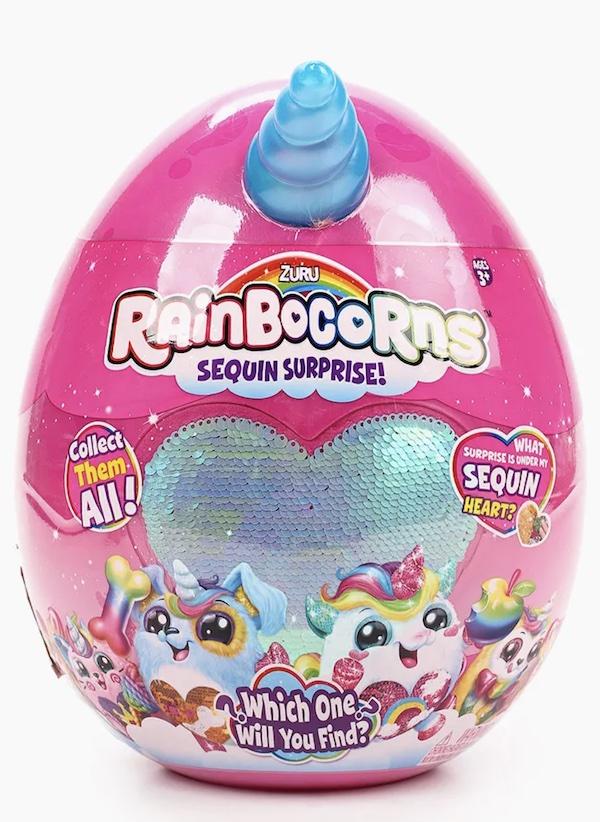 Игрушка мягкая плюш-сюрприз RainBocoRns в яйце